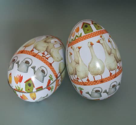 Goose easter egg gift tin amazon kitchen home goose easter egg gift tin negle Images