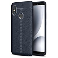 Golden Sand Superior Leather Texture Series Armor ShockProof TPU Case for Redmi Note5 Pro(Blue)