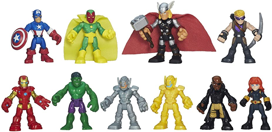 Sivler man PLAYSKOOL POWER UP MARVEL SUPER HERO SQUAD ACTION FIGURE TOYS #K3