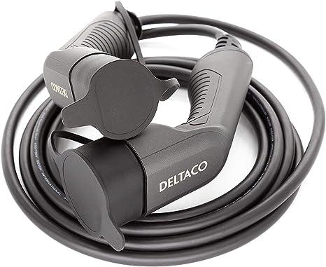 Deltaco Elektroauto Ev Ladekabel E Auto Mennekes Ladekabel 7m Typ 2 Auf Typ 2 Stecker 16a 3 6kw Auto