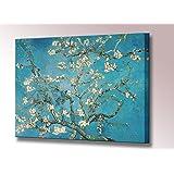 Stampa su tela di mandorlo in fiore (Van Gogh), quadro artistico a muro con cornice pronta da appendere, di alta qualità, 33 x 32 cm, 100 x 79 cm