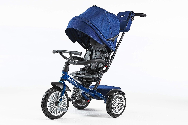 Incluye Bolso White Satin Triciclo para beb/és a Partir de 12 Meses Bentley Triciclo Evolutivo Licencia Triciclo con Asiento Giratorio y Capota