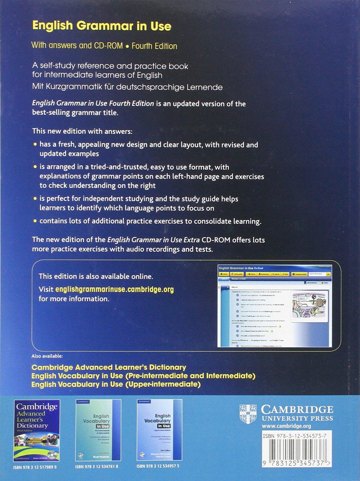 English Grammar in Use - Fourth Edition. Klett Edition: Amazon.es ...