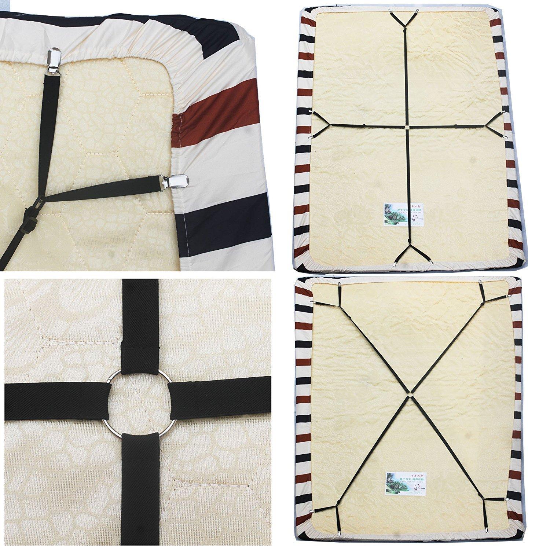 yooeen ajustable cama Toalla Tensor de cruz y cama Horizontal elástica Tensor Tensor óptima adherencia para todos los Bette y colchones: Amazon.es: Hogar