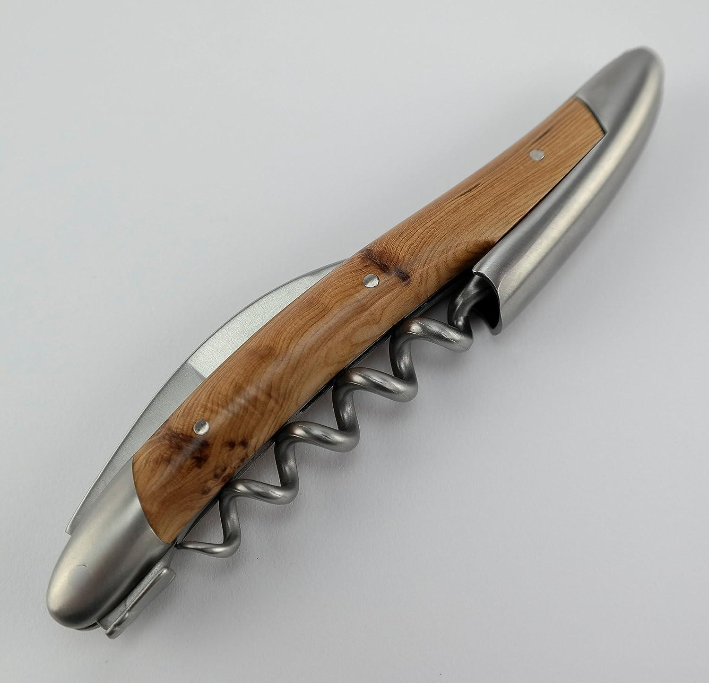 Compra Forge de Laguiole regalo Set - sacacorchos F11 - Cubertería - Mango enebro - Acero inoxidable mate negras + Funda de piel en Amazon.es