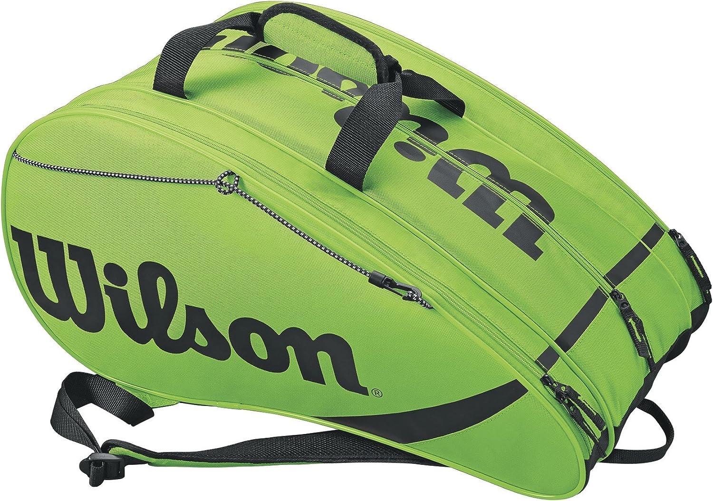 Wilson Rak Pak Bolsa de pádel, hasta 6 palas, puede usarse como mochila, Unisex