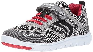 0c47203e85 Geox Xunday BOY 5 Sneaker Grey/red 25 M EU Toddler (8.5 US)