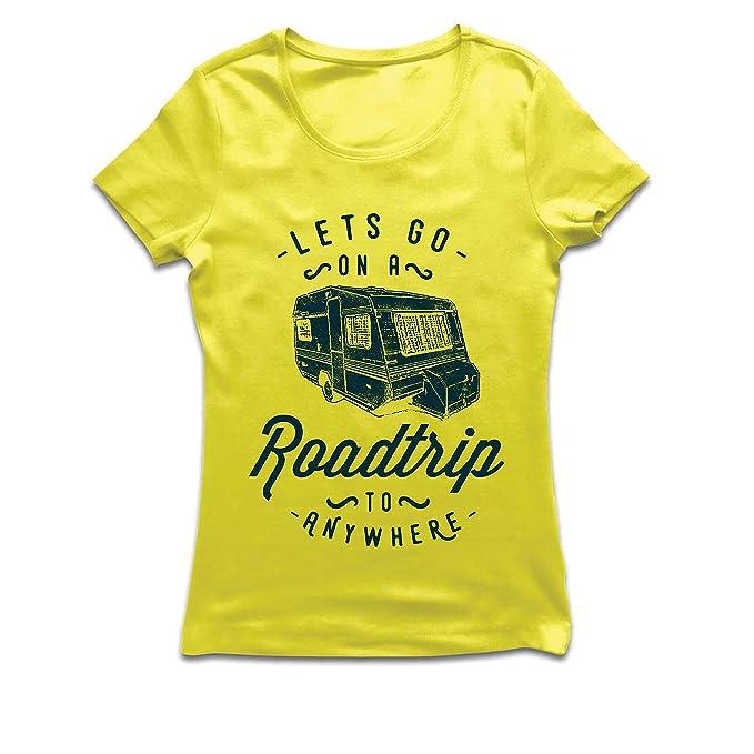 Camiseta Mujer Viaje por Carretera a Cualquier Lugar 5d87e34ffaf