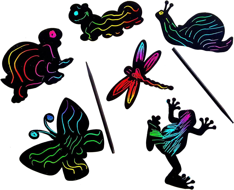 Magic Color Scratch Art (Garden Critters)