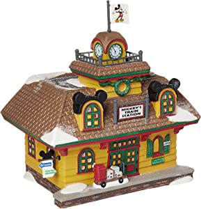 Department 56 Disney Village Mickey Mouse Train Station Lit Building, 5.67 Inch, Multicolor