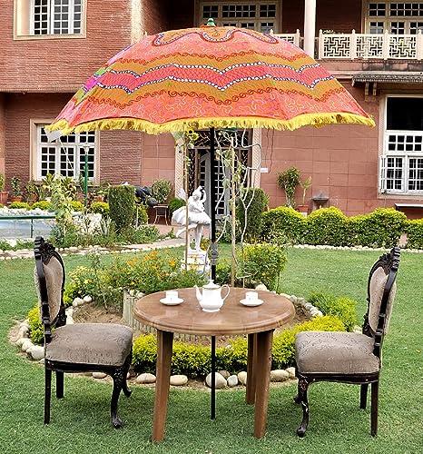 Lal Haveli Sun Protection Large Garden Patio Umbrella Parasol 52 x 72 inches
