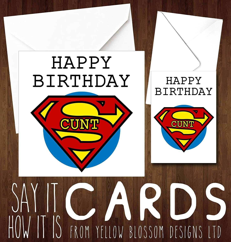 Happy Birthday Greetings Card Superhero Man Dad Brother Friend ...