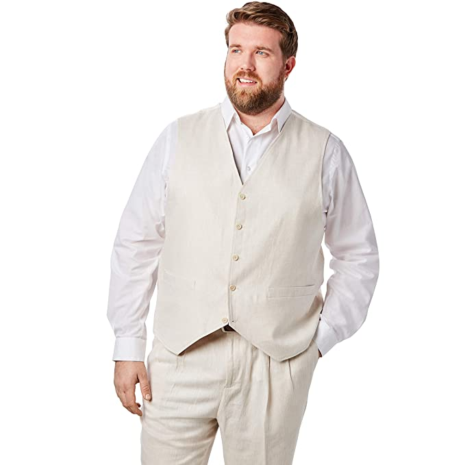 Amazon.com: Kings Court Men s Big & Tall mezcla de lino ...