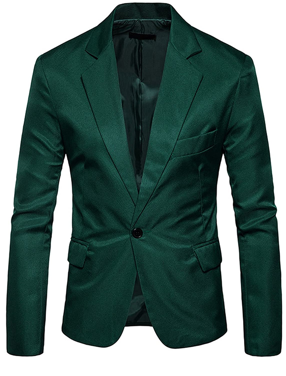 FEHAAN Men's Slim Fit Suit Side-Vent One-Button Coats Jacket