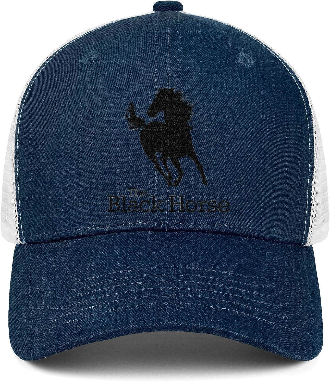 COOLGOOD Womens One Size Snapback Hat Black Horse Logo Mens Visor Mesh Hat