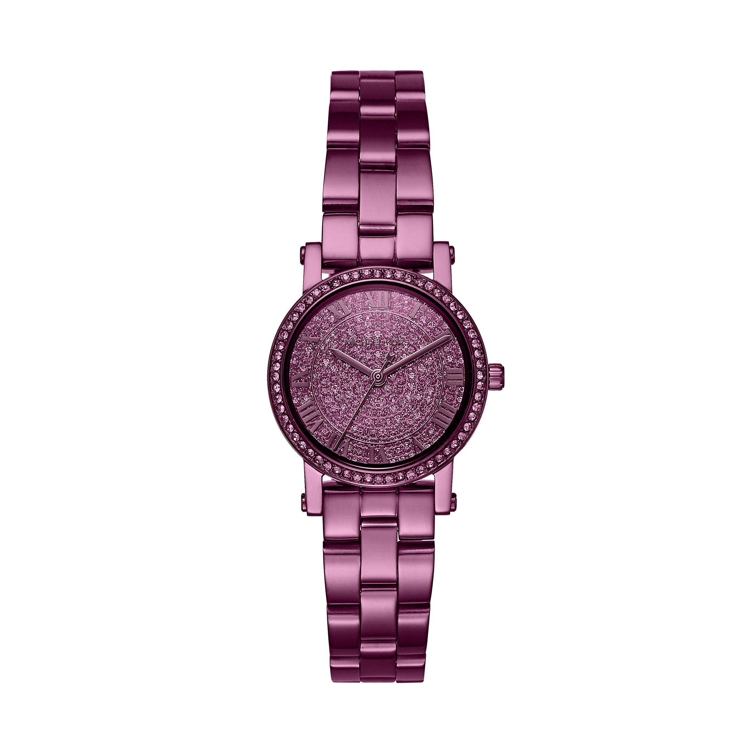 Michael Kors Women's 'Petite Norie' Quartz Stainless Steel Casual Watch, Color:Purple (Model: MK3778)