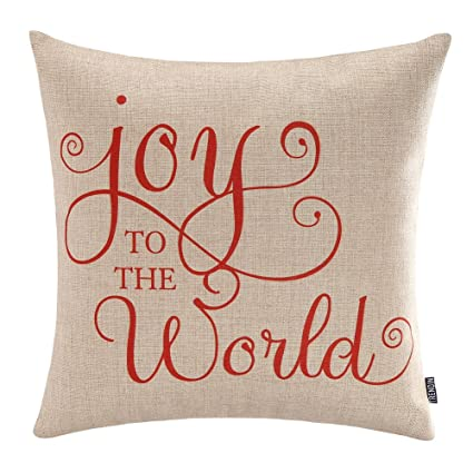 Amazoncom Trendin Merry Christmas Throw Pillow Cover Gifts Joy To