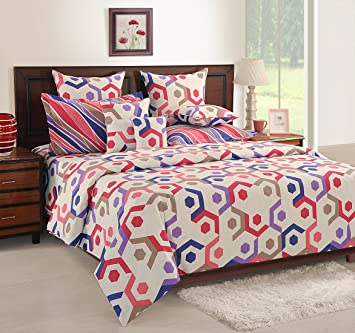Genial Swayam Off White Colour Fitted Double Bed Sheet With Pillow Covers GS BED