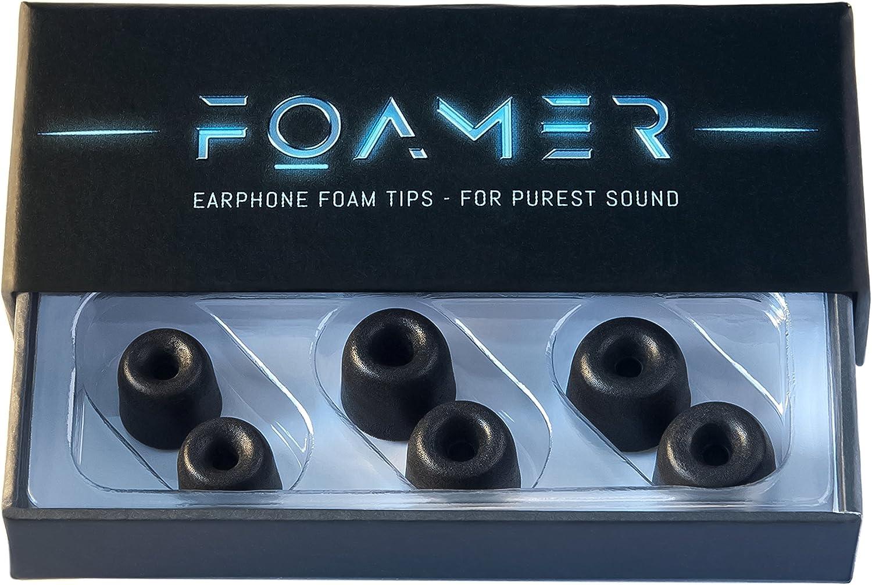 5 Paar 4.5mm Memory Foam Tips Ohrstöpsel für Ohrhörer IN EAR Earphones