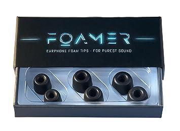 /• 3 pares de almohadillas anti-ru/ído en espuma viscoel/ástica para auriculares in-ear/• Almohadillas auriculares de repuesto para audifonos intrauriculares con tapones en silicona S//M//L 3 FOAMER F4.9