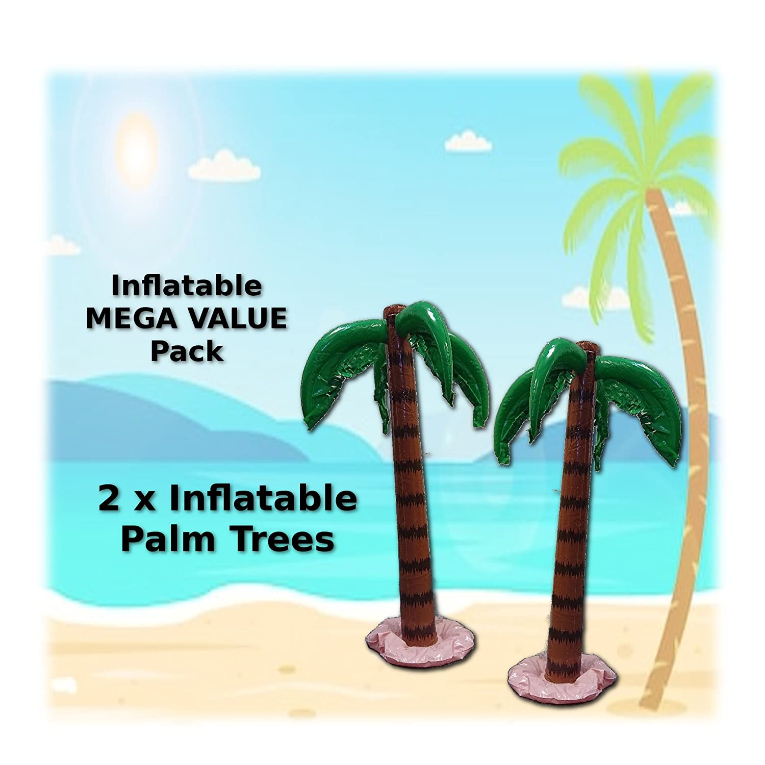 2 x 35 inch Inflatable Palm trees Unique