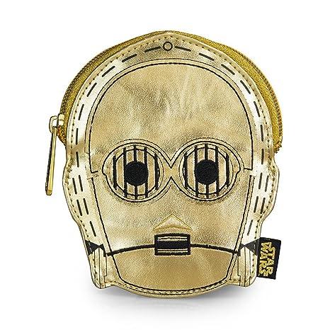 Monedero Star Wars C3PO Dorado metálico detalles bordados ...