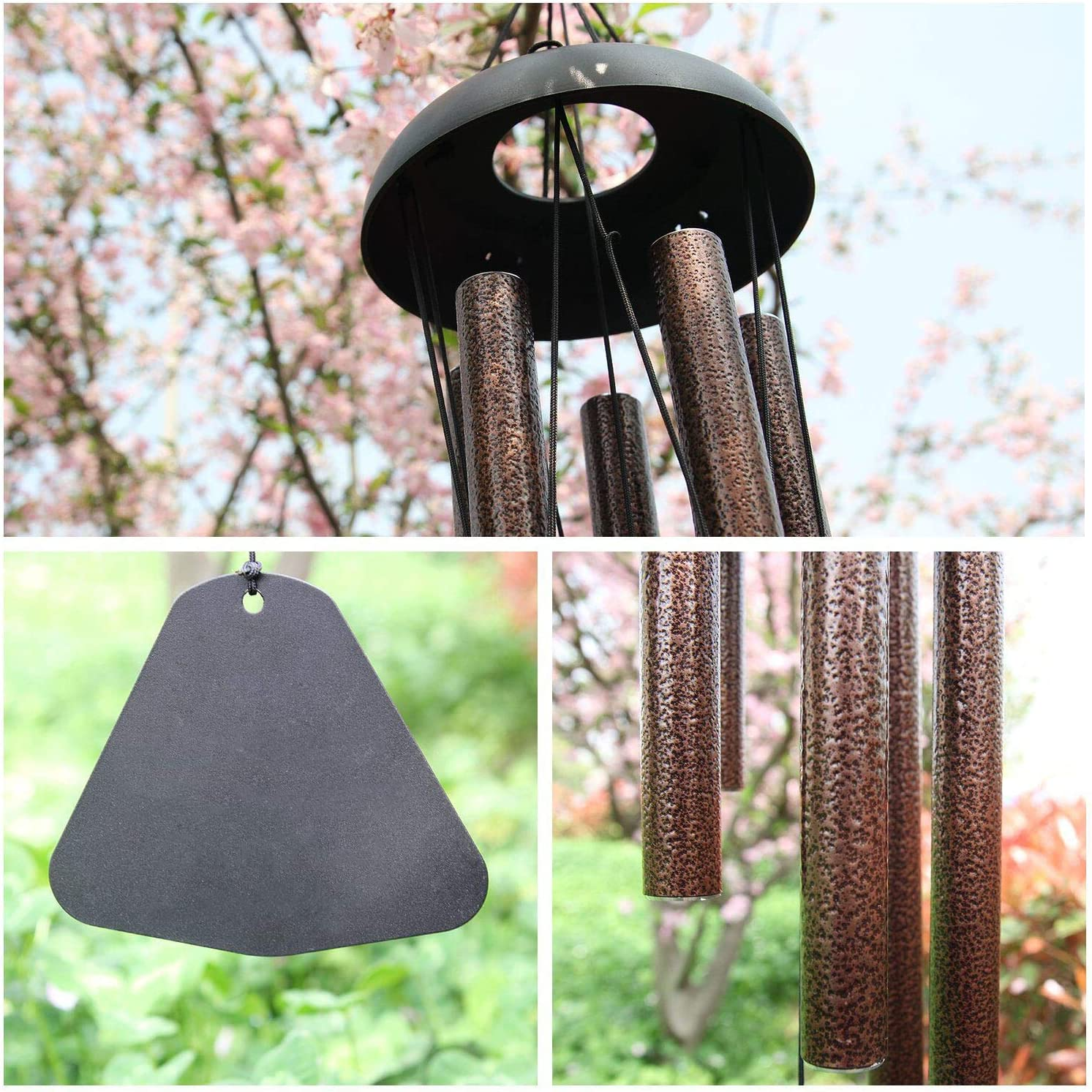 Garden Balcony Chimes Outdoor Hanging Ornaments Kukiu 5 Tuned Metal Tubes Wind Chimes