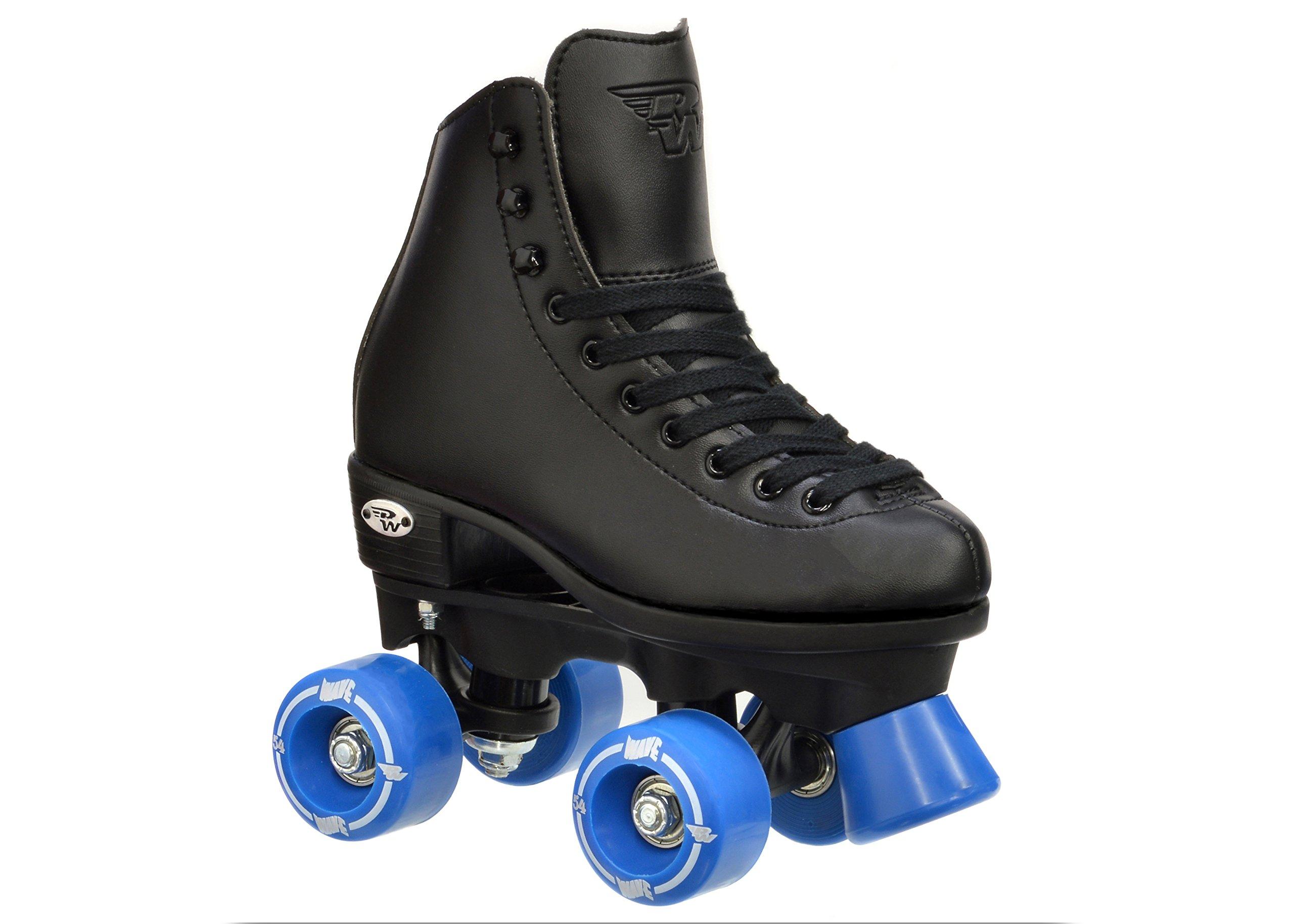 Riedell Wave Boys Black Skates - Riedell Wave Black Quad Roller Skates by Riedell