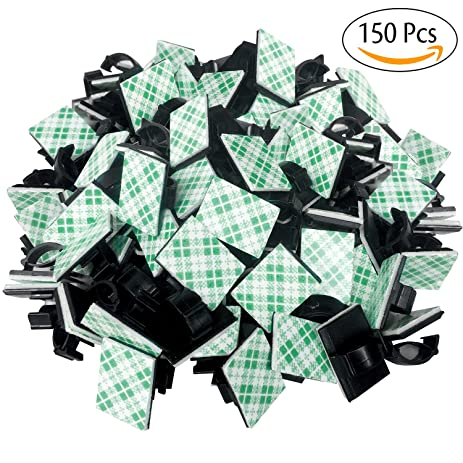 Amazon.com: Gogogu 150 Pcs Adhesive Cable Clips, Wire Clips, Car ...