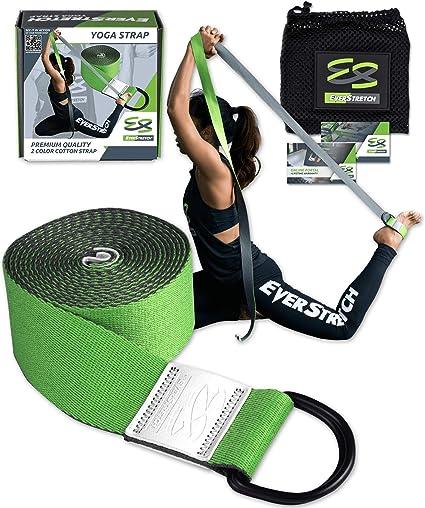 Amazon.com : EverStretch Yoga Strap for Stretching Premium ...