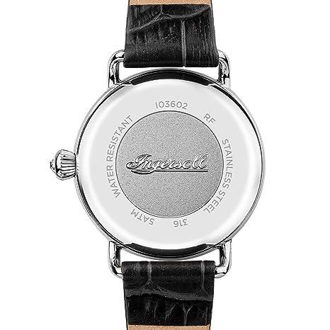 Analog Damen I03602 Quarz Armband Leder Ingersoll Uhr Mit 8nwkXZ0NPO