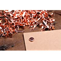 100 x Copper Paper Fasteners Rose Gold Split Pins Binding High Quality Office Craft 19mm