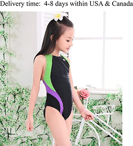 f82f0c731c35e Image Unavailable. Image not available for. Color  YingFa One Piece  Training Swimsuit for Girls ...