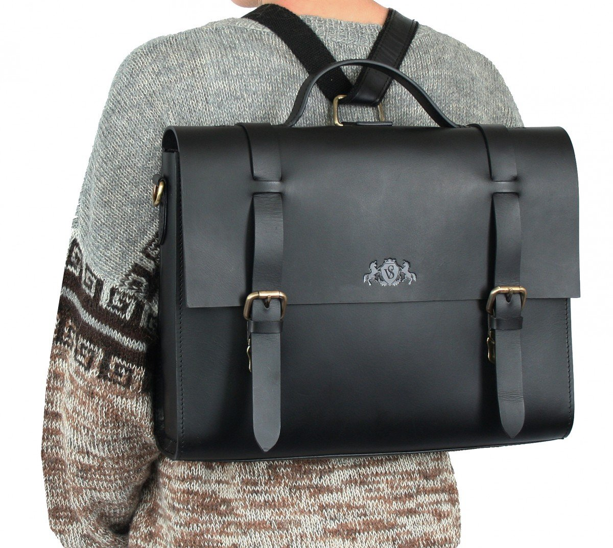 717c7c6faf90e SID   VAIN Aktentasche echt Leder Boston Duo groß Laptoptasche  Multifunktionstasche 15