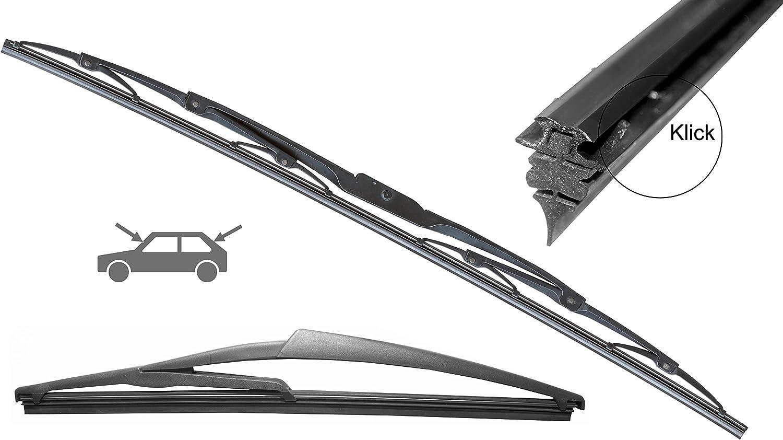Wischer Gummi Metallbügel SET in 575//500mm 2x Premium CLASSIC Scheibenwischer