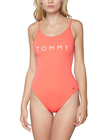 3e639199b8 Tommy Hilfiger Women's One-Piece Swimsuit, Red (Dubarry Red 656), 10