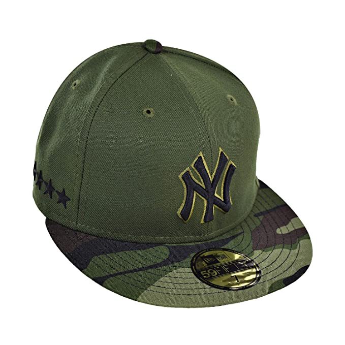 f4adecde1e384 New Era New York Yankees Memorial Day 59Fifty Men s Fitted Hat Cap Green Camo  11469249
