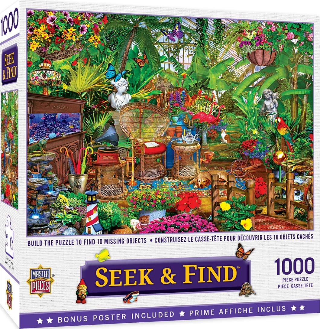 MasterPieces Hidden Images Garden Hideaway 1000 Piece Jigsaw Puzzle