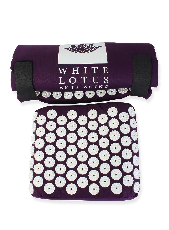 ヨーロッパ製 ホワイトロータス 高級指圧マット&枕 形状記憶 B015NJ0X0E