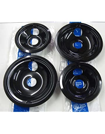 2 of WB31M20 and 2 of WB31M19 GE Range Cooktop Porcelain Drip Pan Bowls Model:
