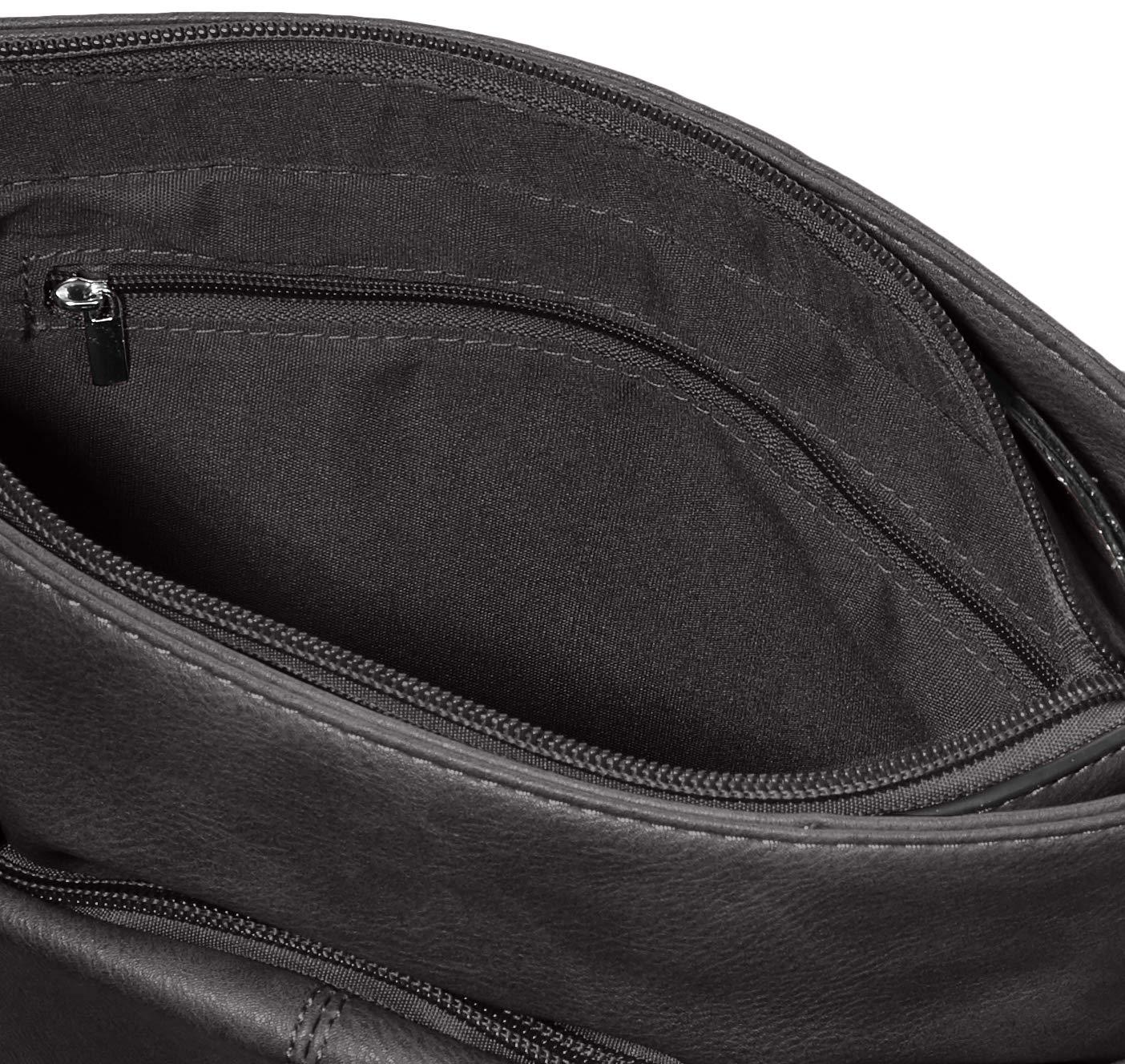 N.V. Väskor dam Nv216 CROSSBODY, en storlek svart