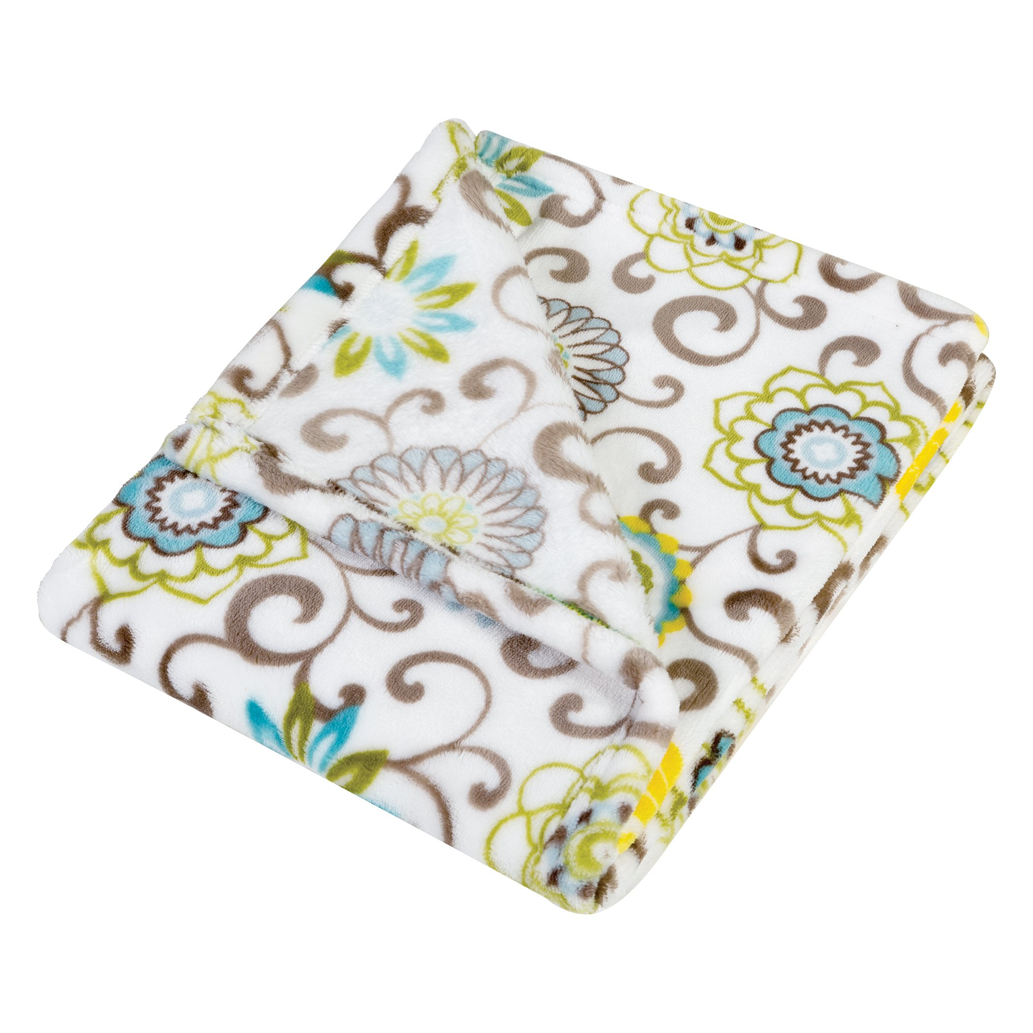 Trend Lab Plush Baby Blanket, Multi Waverly Pom Pom Spa