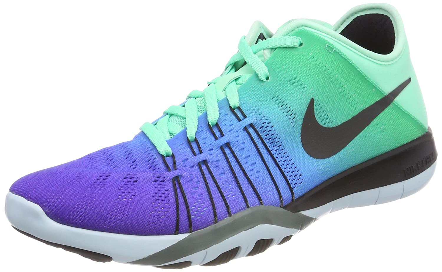 ac2a1bf07bf5 Nike Women s Free TR 6 Spectrum Training Shoe Green Glow Black Glacier  Blue Hasta Size 7 M US  Buy Online at Low Prices in India - Amazon.in
