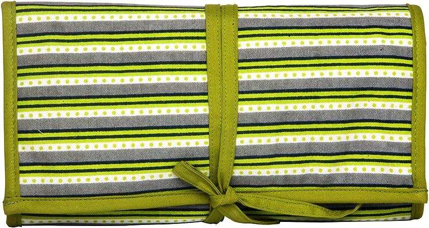 KNITPRO Estuche para agujas circulares con diseño de bloque de mano, algodón, multicolor, 37 x 2 x 20 cm: Amazon.es: Hogar