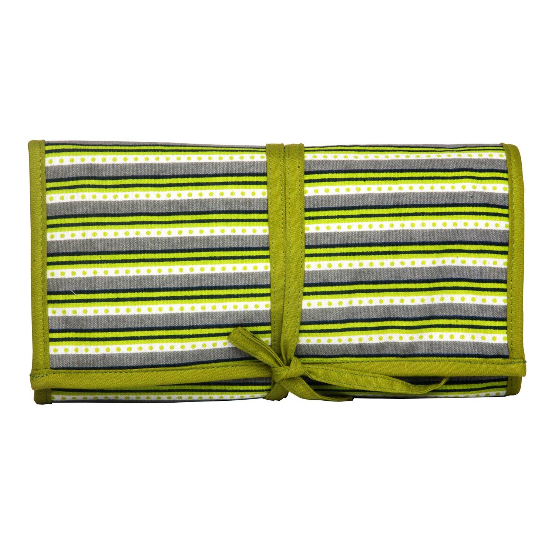Baumwolle Mehrfarbig 37/x 2/x 20/cm KnitPro Hand Block bedruckter Stoff aufbewahrungsl/ösungen Greenery n/ähnadelt/äschchen