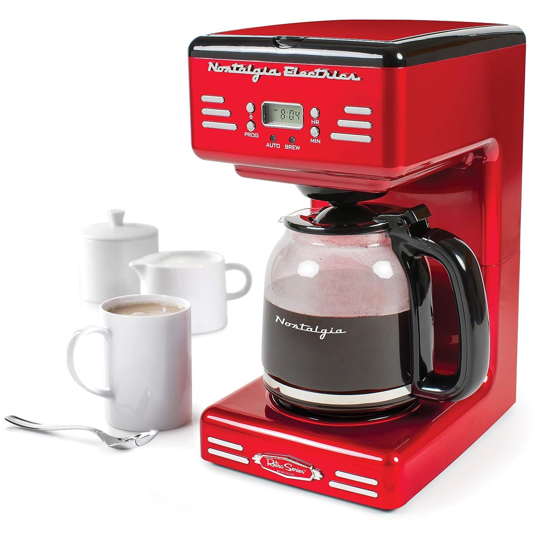 Amazoncom Nostalgia Rcof120 Retro 12 Cup Programmable Coffee Maker