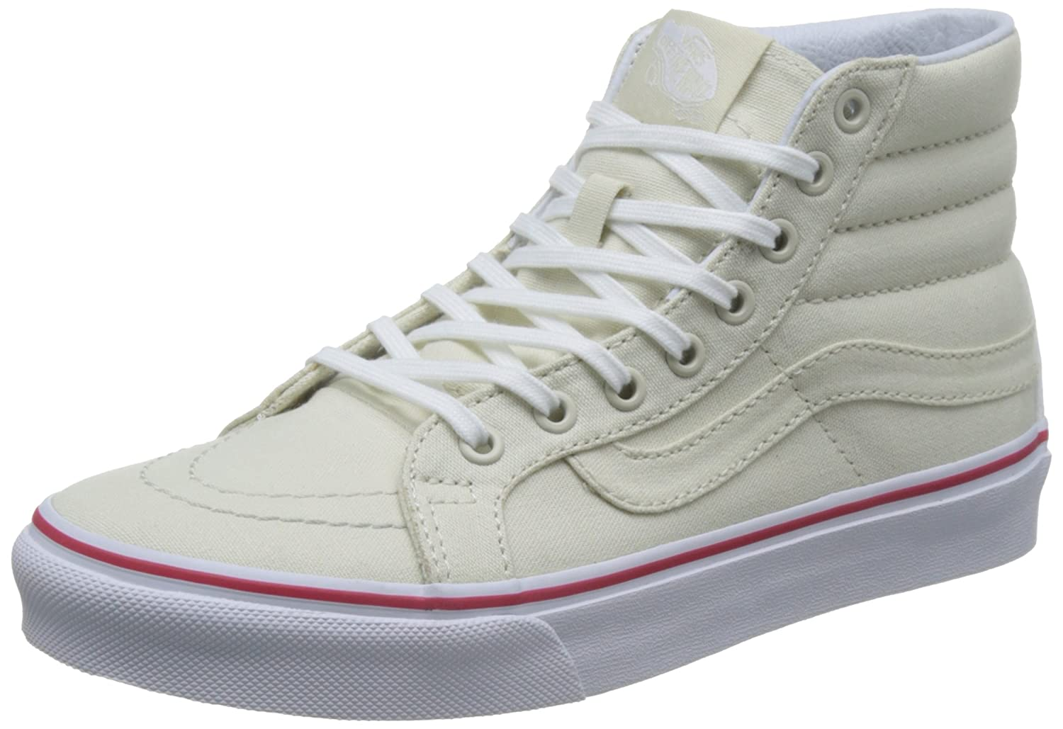 Vans Unisex Sk8-Hi Slim Women's Skate Shoe B01MTIOHJ1 10.5 M US Women / 9 M US Men|Bone/True White