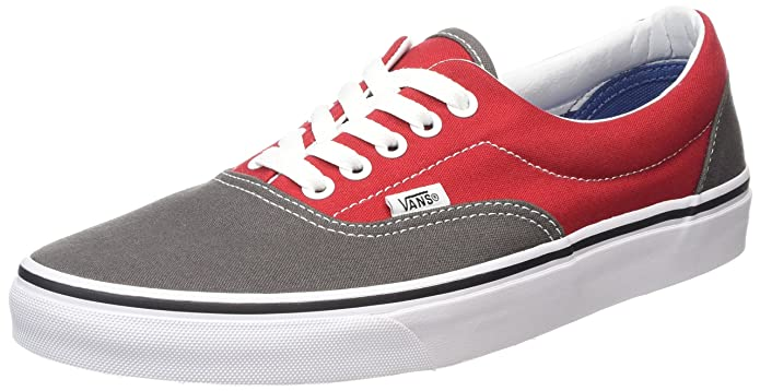 Vans Era Unisex-Erwachsene Low-Top Sneakers Grau Rot Pewter/Racing Red