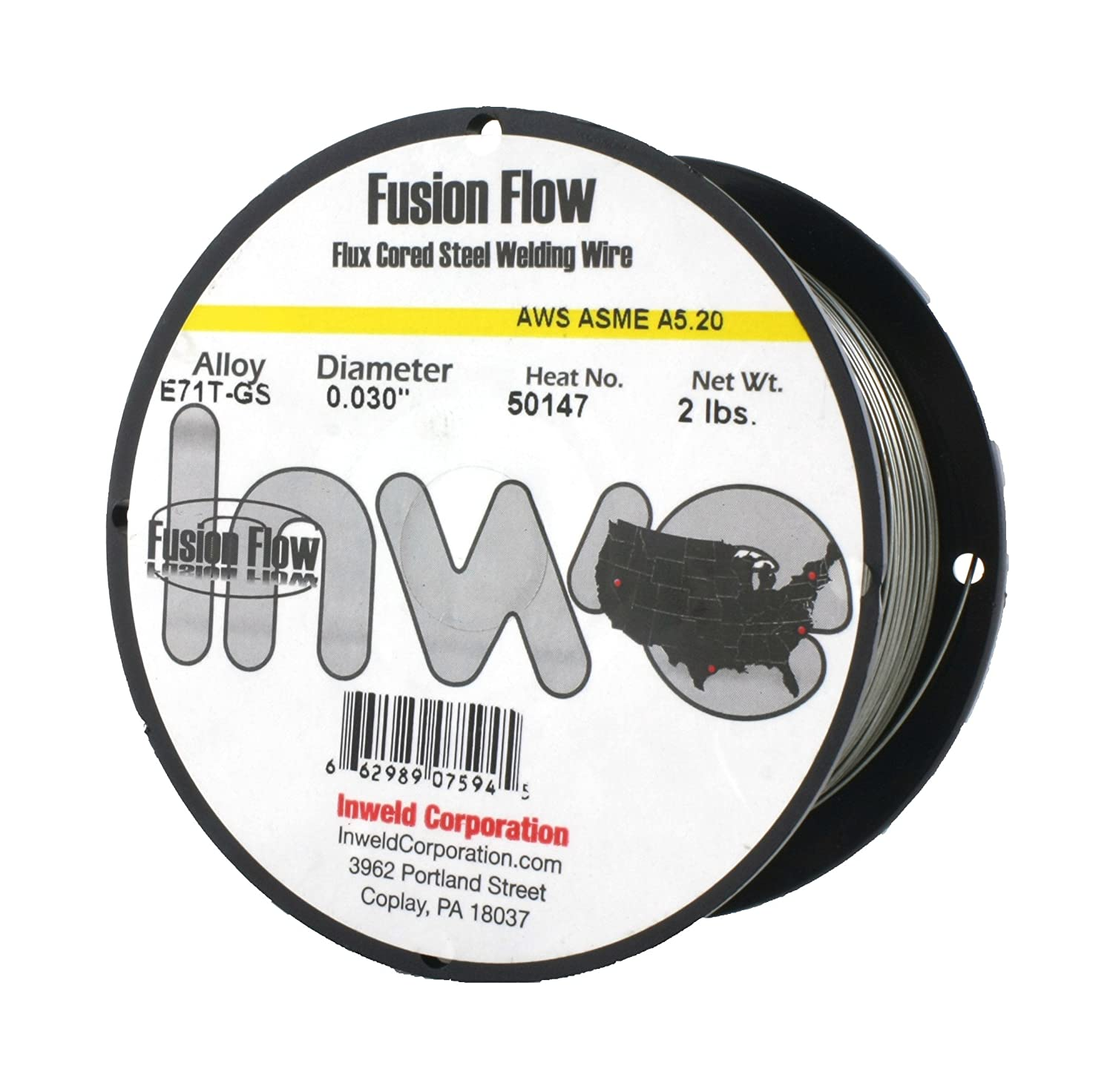 E71T-GS - Fluxcored MIG Wire - GASLESS - USA Made - 2 Lb x 0.030 ...