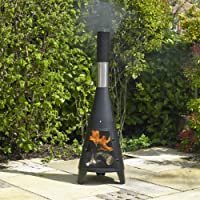 Kingfisher TCHIMS Small Tower Chiminea, Transparent, 40x40x121.5 cm